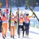 Martin Auracher mit dem Biathlon Team bei den Weltmeisterschaften
